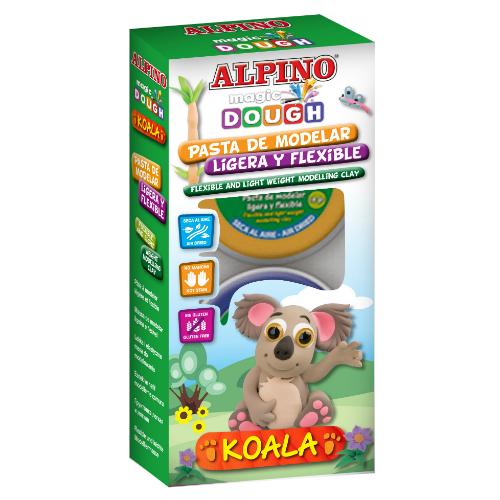 Modelino rinkinukas ALPINO Magic Dough Koala vaikams nuo 3 m.