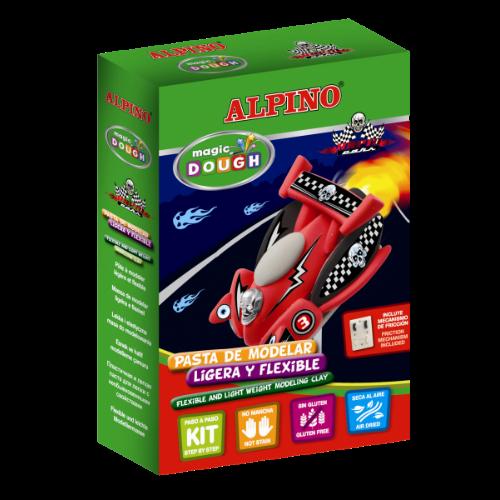 Modelino rinkinys ALPINO Lenktyniniam automobiliui pagaminti vaikams nuo 3 m.