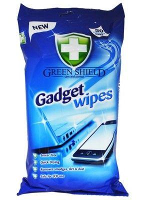 Servetėlės GREEN SHIELD, elektroniniams prietaisams valyti, 50 vnt.