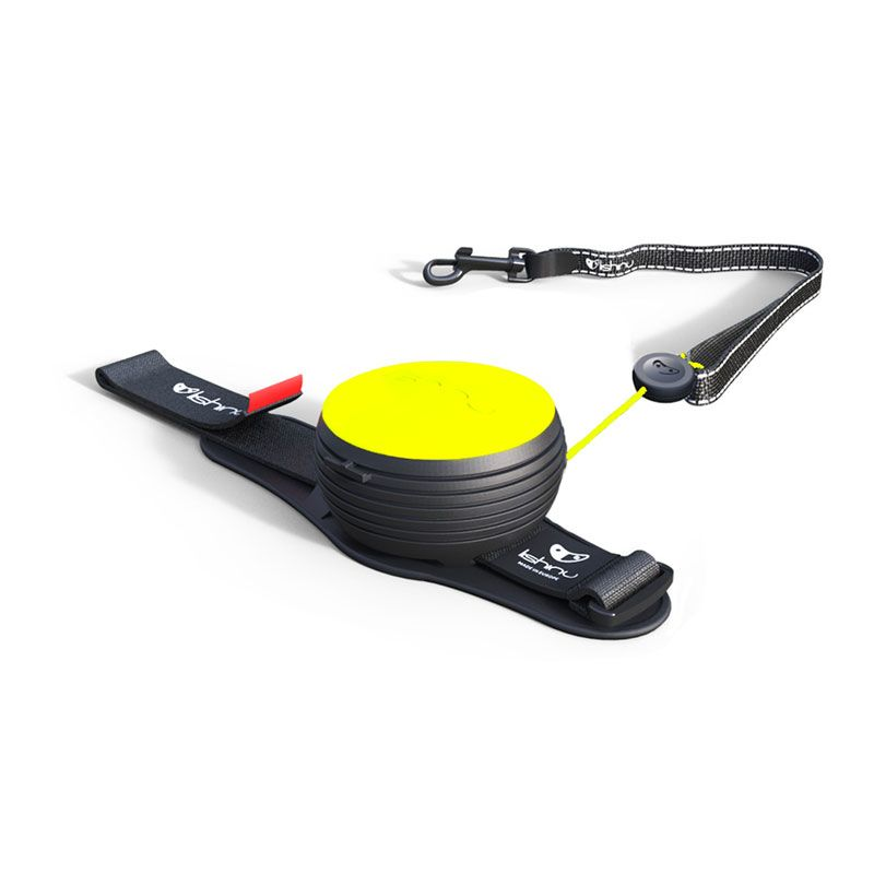Automatinis, laisvų rankų pavadėlis LISHINU Original – Neon, geltonas