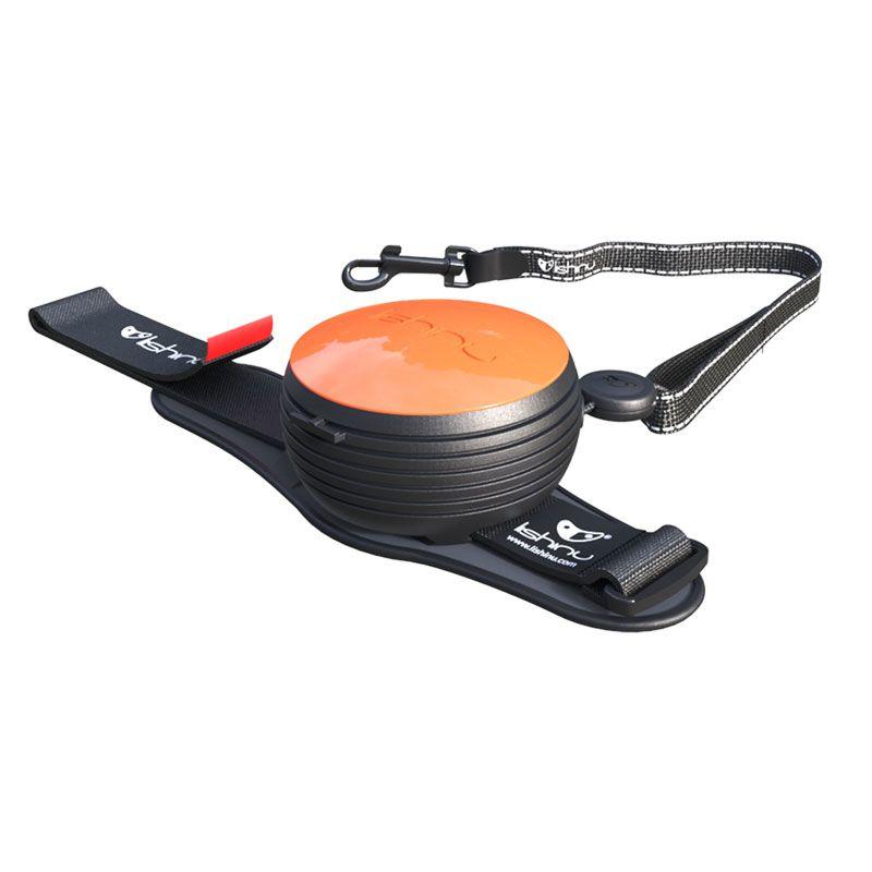 Automatinis, laisvų rankų pavadėlis LISHINU Original – oranžinis