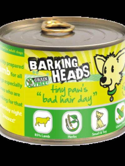 Konservai su ėriena BARKING HEADS Wet Tiny Paws Bad Hair Day, 200gr