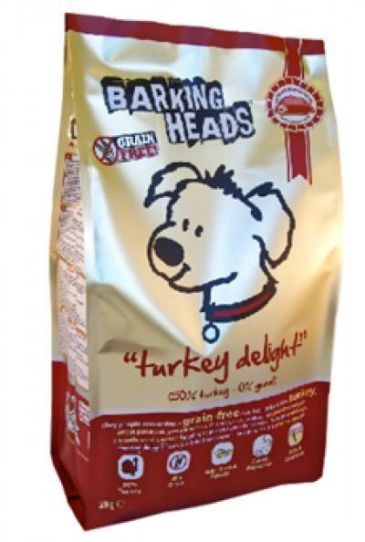 Sausas ėdalas BARKING HEADS Turkey Delight Grain Free su kalakutiena, 2kg