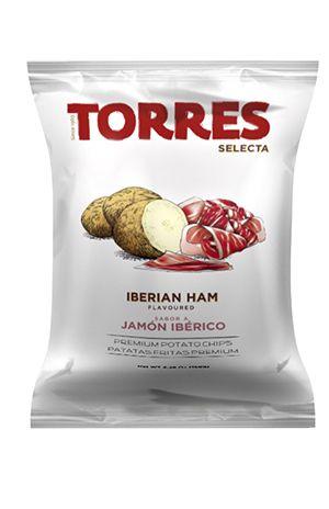 Bulvių traškučiai TORRES iberijos kumpio skonio, 50g