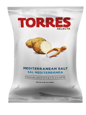 Bulvių traškučiai TORRES su viduržemio jūros druska, 150g