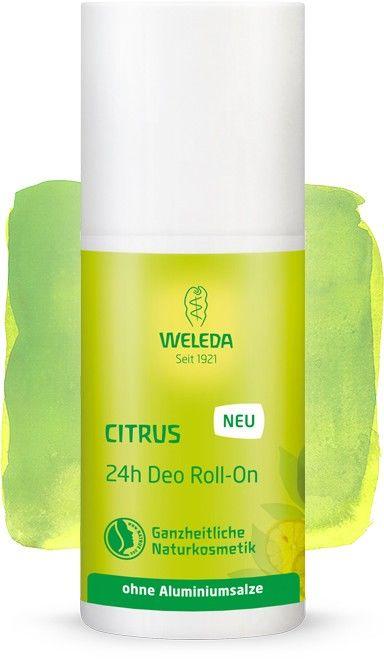 Rutulinis 24 val. poveikio dezodorantas WELEDA su citrinmedžių ekstraktu, 50 ml