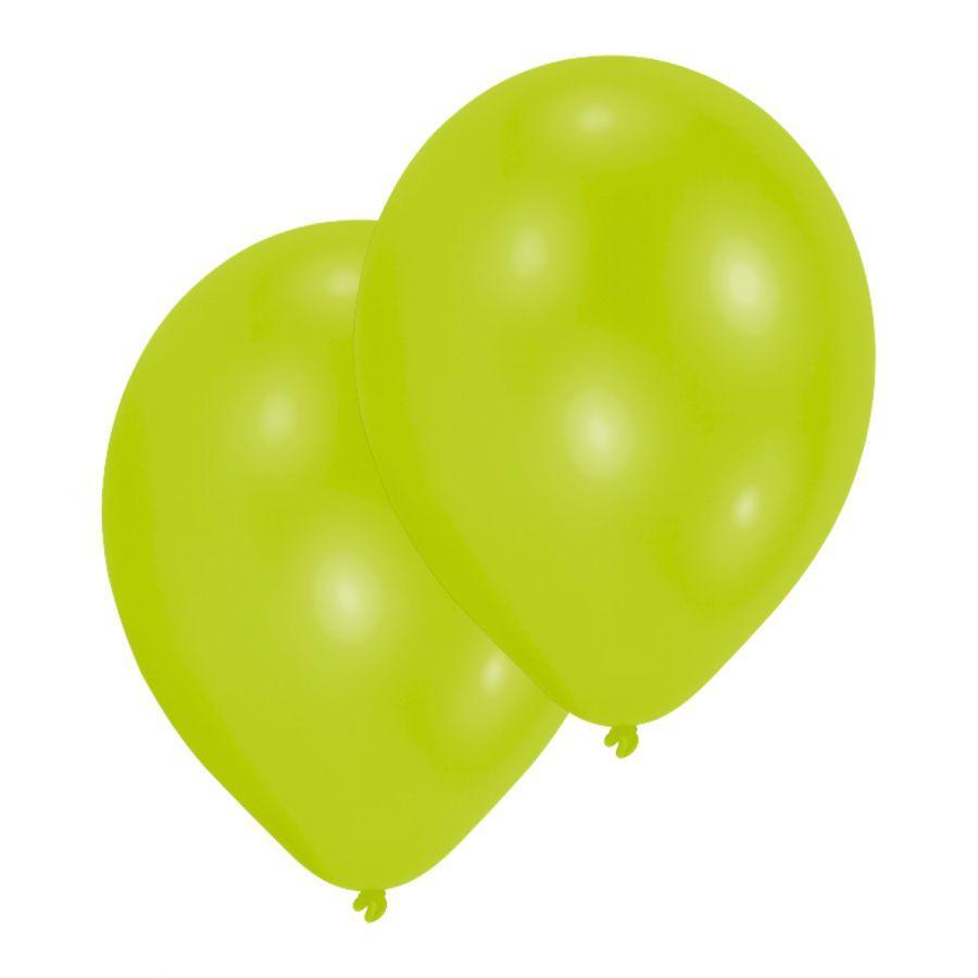 Obuolio žalumo balionai AMSCAN, 10 vnt.