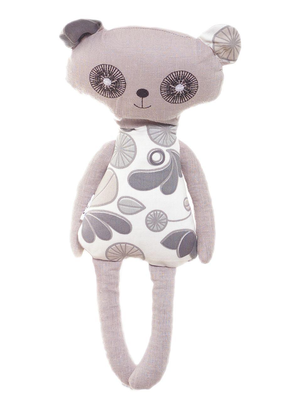 """""""Grikė"""" Natūralus žaislas-šildyklė """"Meškiukas Panda"""" kimšta grikių lukštais  43x20cm."""