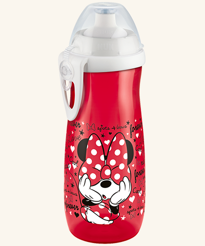 Gertuvė NUK Snoopy Sports Cup su paspaudžiamu ir pakeliamu silikoniniu antgaliu vaikams nuo 3 metų, 450 ml