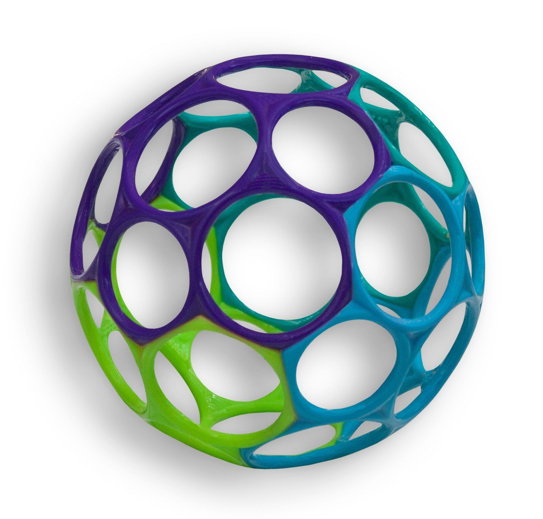 Spalvotas kamuoliukas OBALL vaikams nuo 0+ mėn. (OB81024)