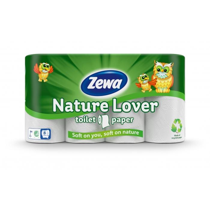 Popieriniai rankšluosčiai ZEWA Nature Lover, 4 ritinėliai, 2 sluoksniai