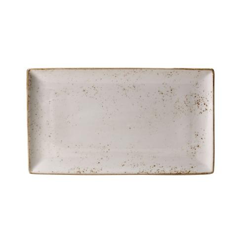 Stačiakampė lėkštė STEELITE Craft white, 33x27cm