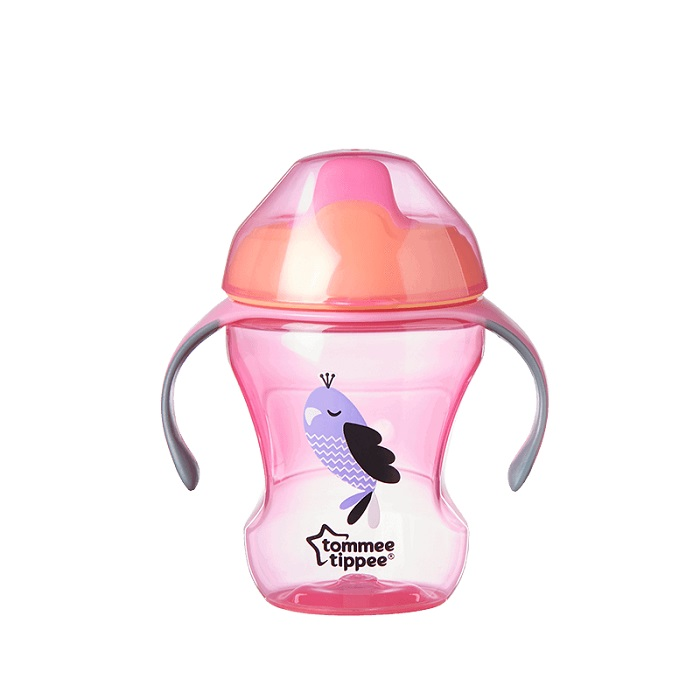 Mokomasis puodelis TOMMEE TIPPEE su minkštu snapeliu vaikams nuo 7 mėn., 230 ml (447110)