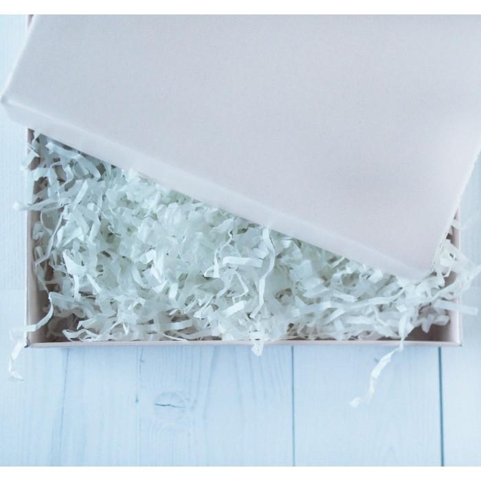 Dekoratyvinės popierinės drožlės, baltos, 50g