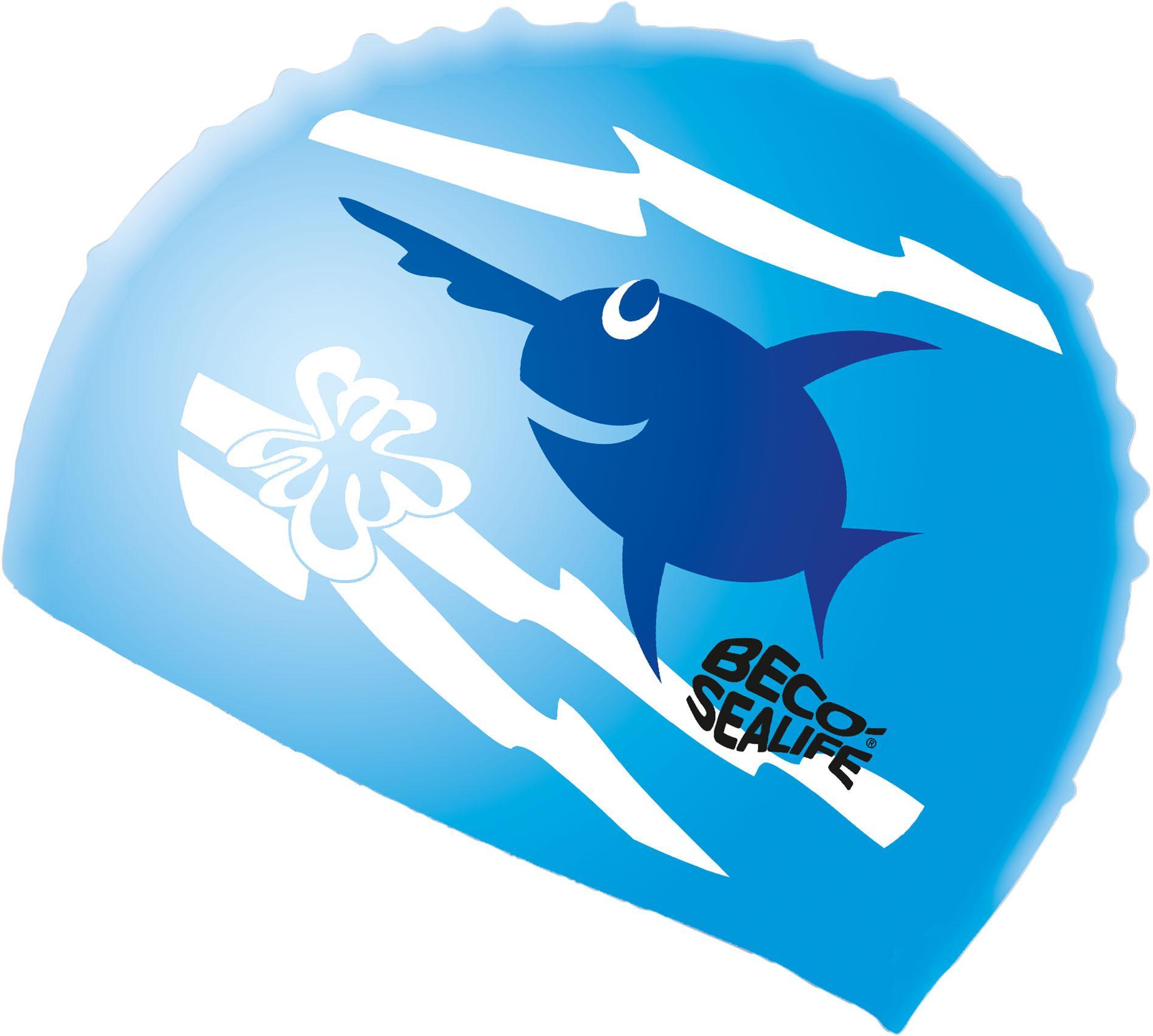 Vaikiška mėlyna silikoninė plaukimo kepuraitė BECO Sealife  (73942)