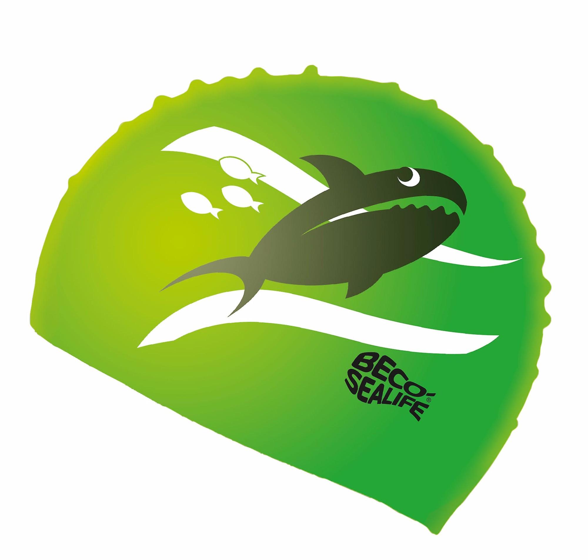 Vaikiška žalia silikoninė plaukimo kepuraitė BECO Sealife (73942)