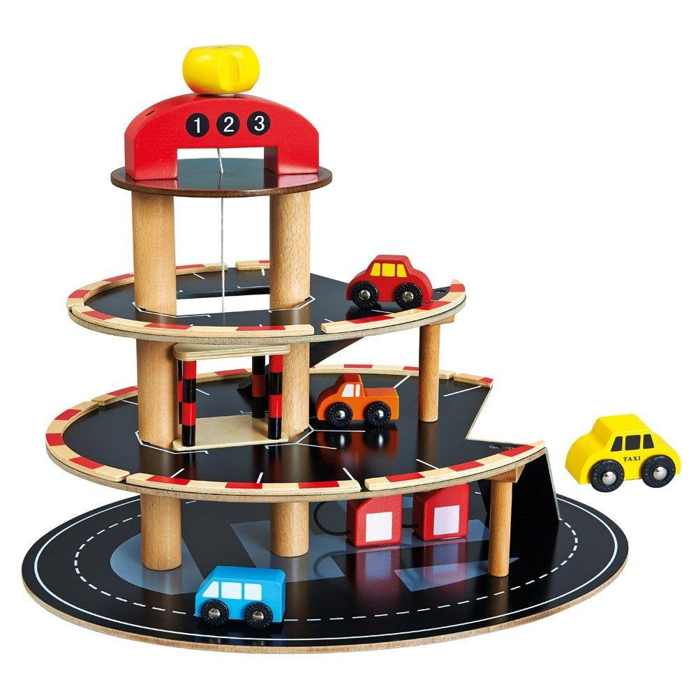 Medinė automobilių pardavimo aikštelė BINO su mašinėlėmis vaikams nuo 3 metų (84077)
