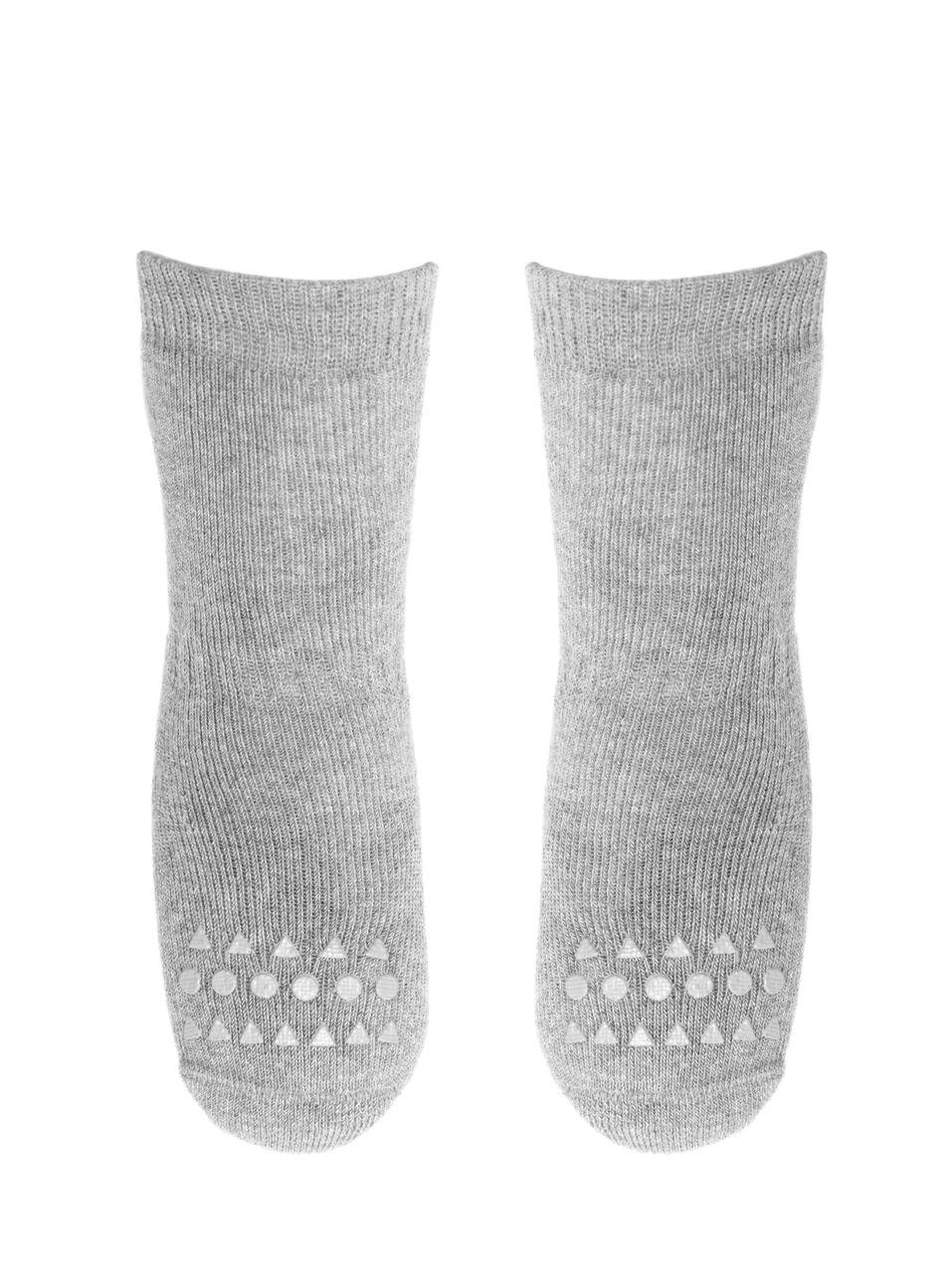 Šviesiai pilkos kojinaitės GOBABYGO 1-2 metų vaikams