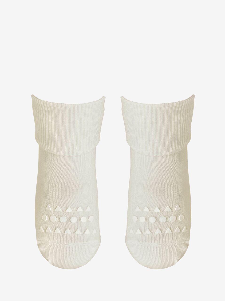 Baltos bambukinės kojinaitės GOBABYGO 6-12 mėn. vaikams