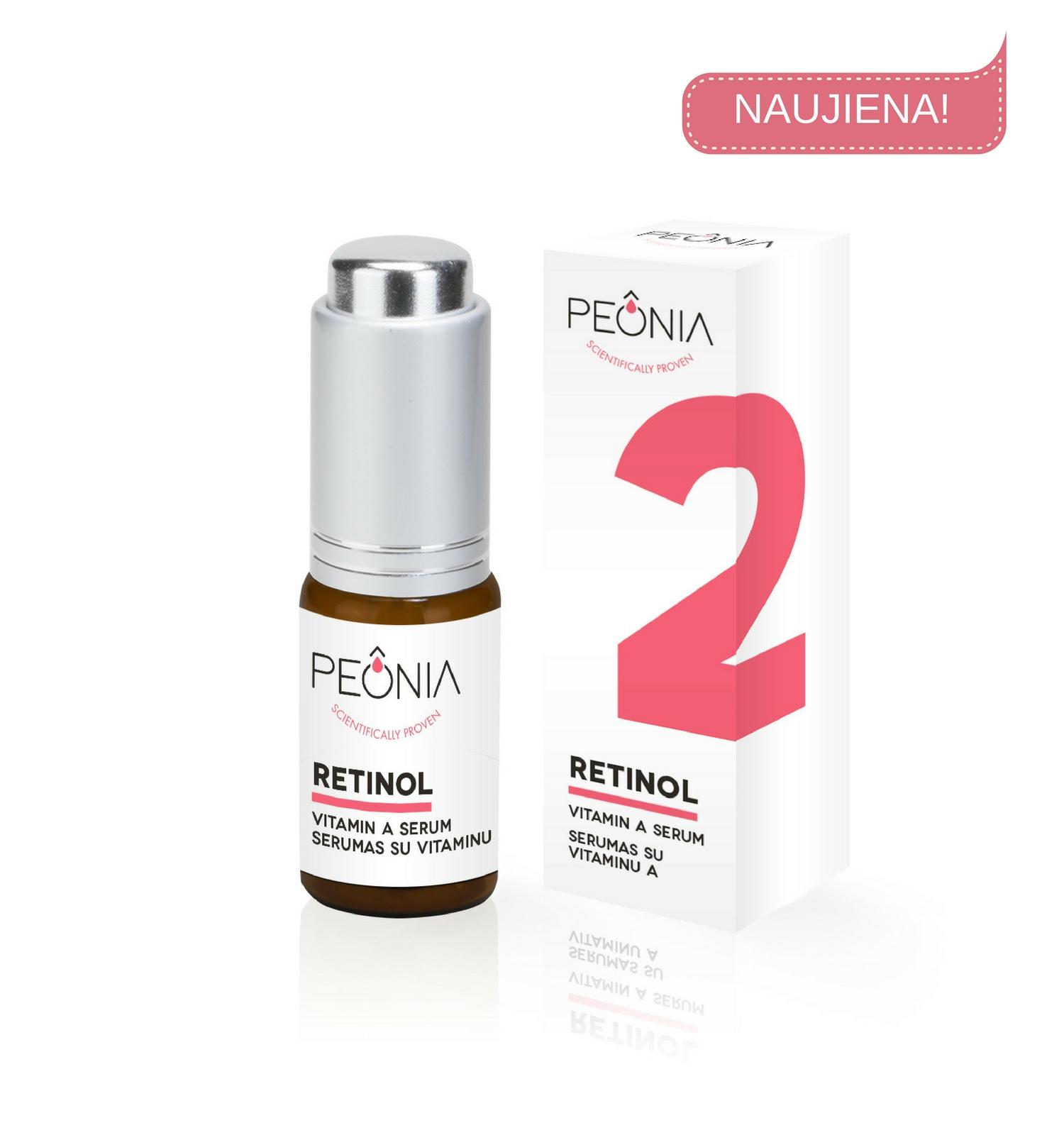 Retinolis (0,6%)  serumas PEONIA su vitaminu A, 15 ml