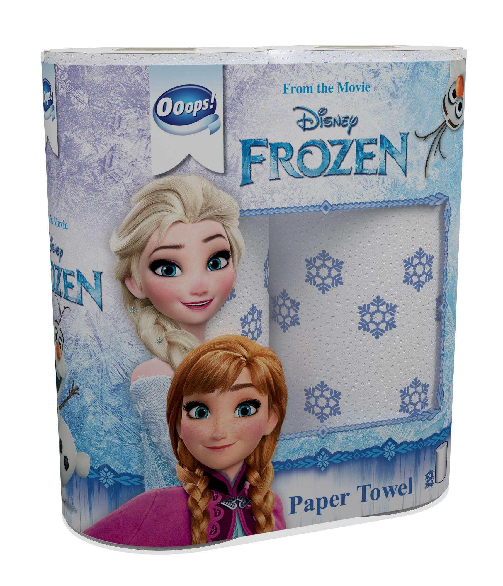 Virtuviniai rankšluosčiai OOOPS! Frozen 2 ritinėliai, 2 sluoksniai