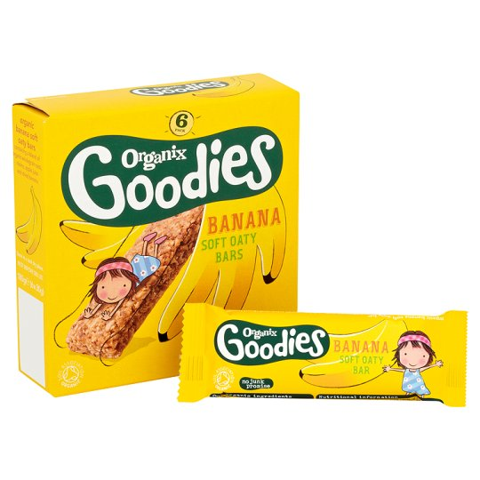 Ekologiški vaisiniai batonėliai ORGANIX GOODIES su bananais vaikams nuo 12 mėnesių, 180 g