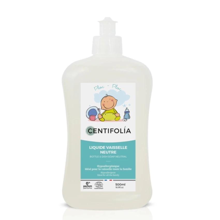Hipoalerginis buteliukų ir indų ploviklis CENTIFOLIA, neutralaus kvapo, 500 ml