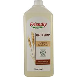Ekologiškas skystas rankų muilas FRIENDLY ORGANIC su ryžių ekstraktu, 1 L