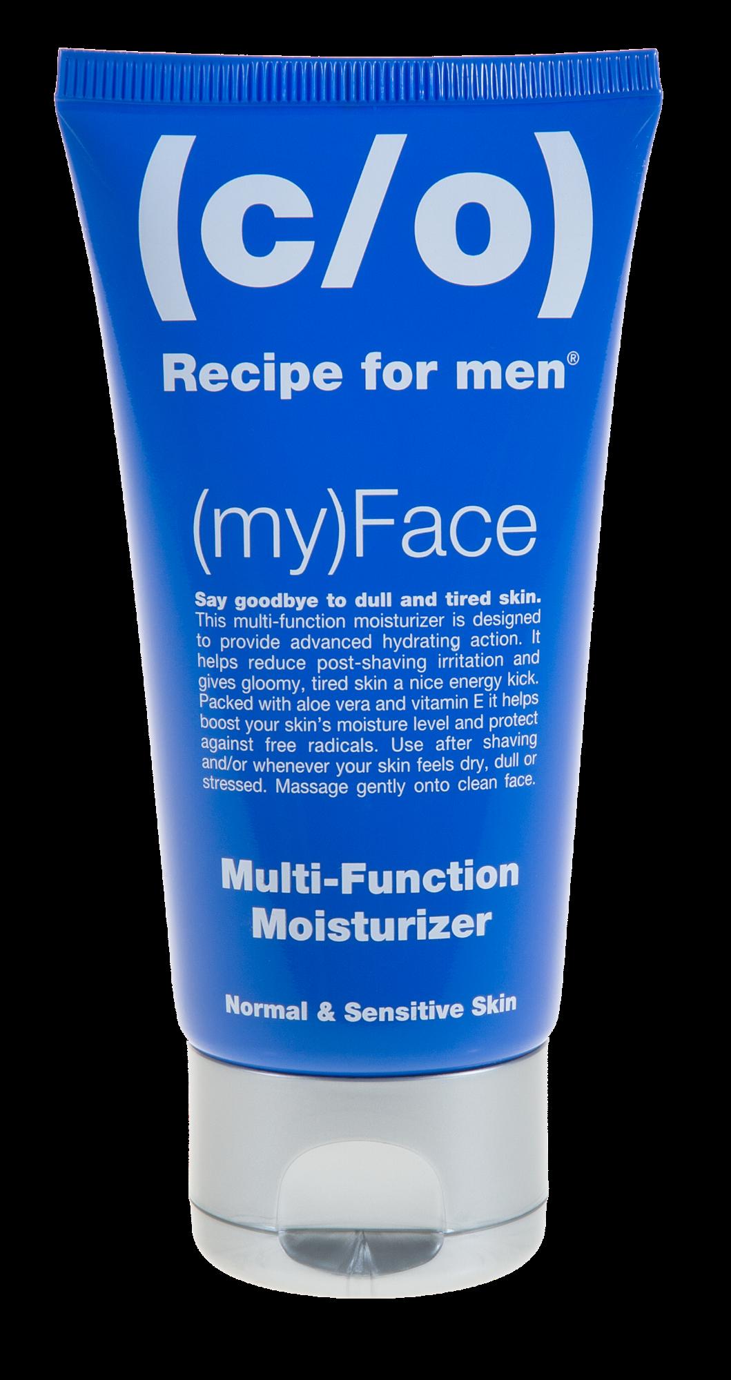 Intensyviai drėkinantis veido kremas normaliai ir jautriai odai RECIPE FOR MAN C/O, 75 ml
