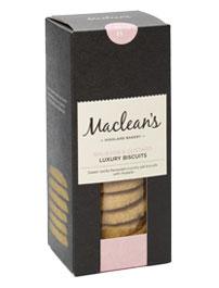 Avižiniai sausainiai su rabarbarais ir plikytu kremu MACLEANS, 150g