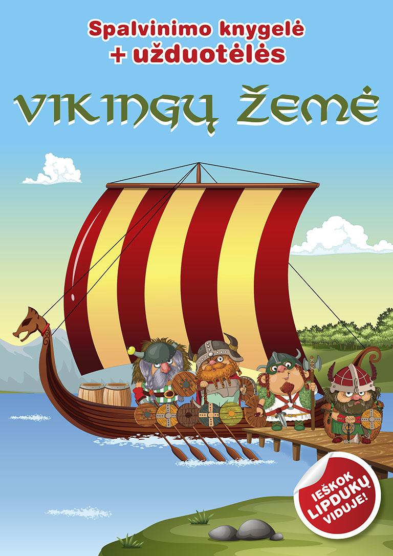 """Spalvinimo ir užduotėlių knygelė """"Vikingų žemė"""""""