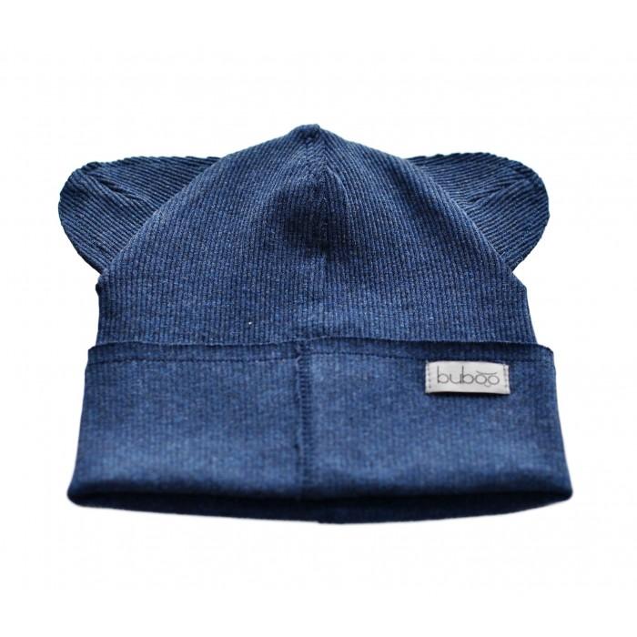 Dviguba vaikiška kepurė BUBOO Bear, mėlyna (37-41 cm)