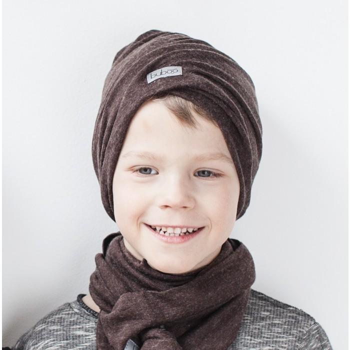 Dviguba vaikiška kepurė BUBOO Screw2, tamsiai ruda (45-49 cm)