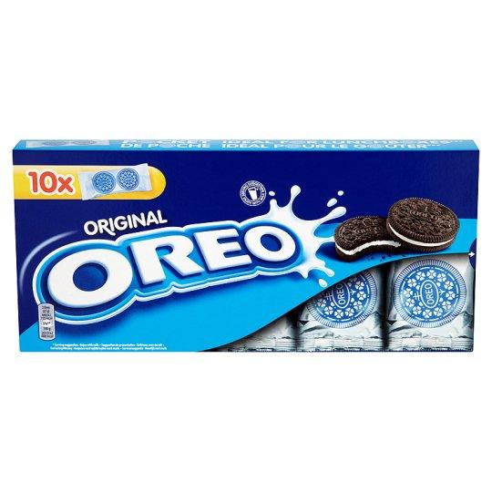 OREO kakaviniai sausainiai su vanilės skonio įdaru, 220g