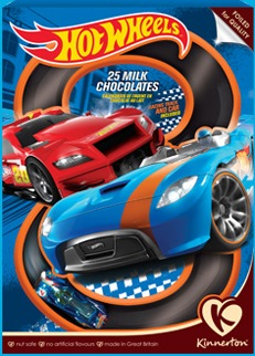 KINNERTON Hot Wheels advento kalendorius, 90g