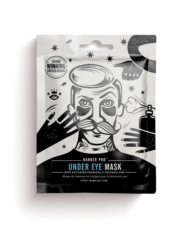 Paakių kaukė vyrams BEAUTY PRO su aktyvuota anglimi ir vulkaniniais pelenais,  3×3,5 g