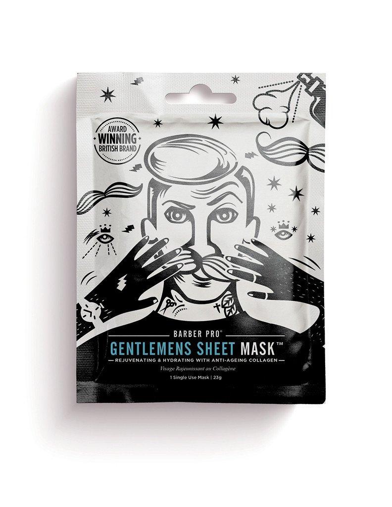 Jauninanti ir drėkinanti kaukė vyrams BEAUTY PRO Gentelmen's su kolagenu, 23 g