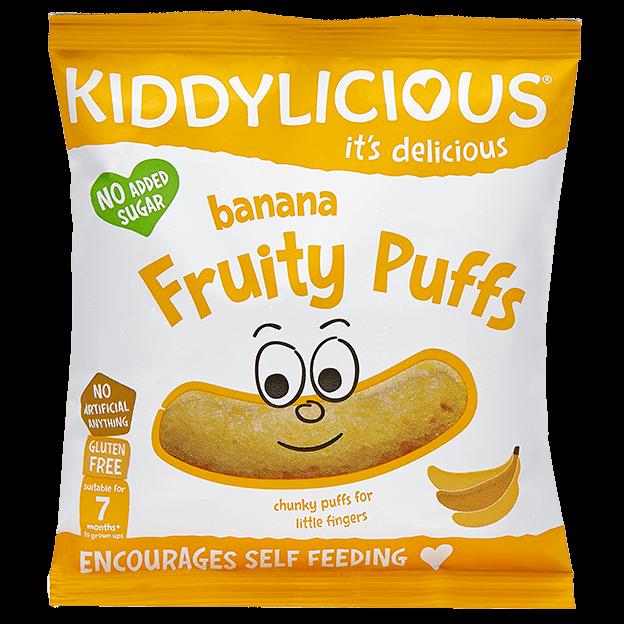 Bananų skonio kukurūzų lazdelės KIDDYLICIOUS vaikams nuo 7 mėn., 10 g