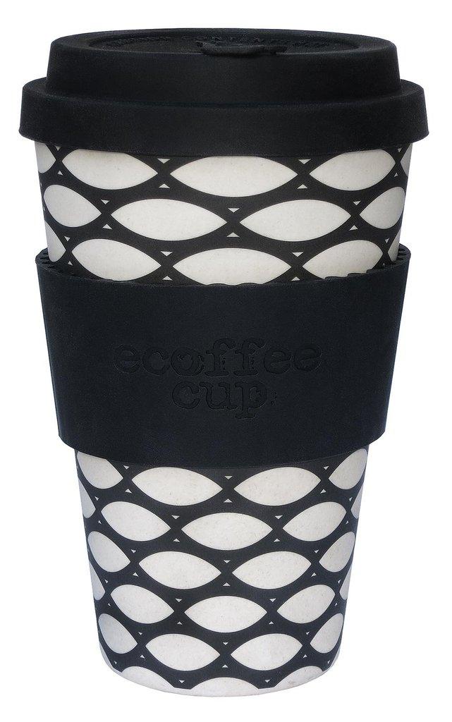 Ekologiški bambuko puodeliai ECOFFEE CUP Basketcase, 400 ml