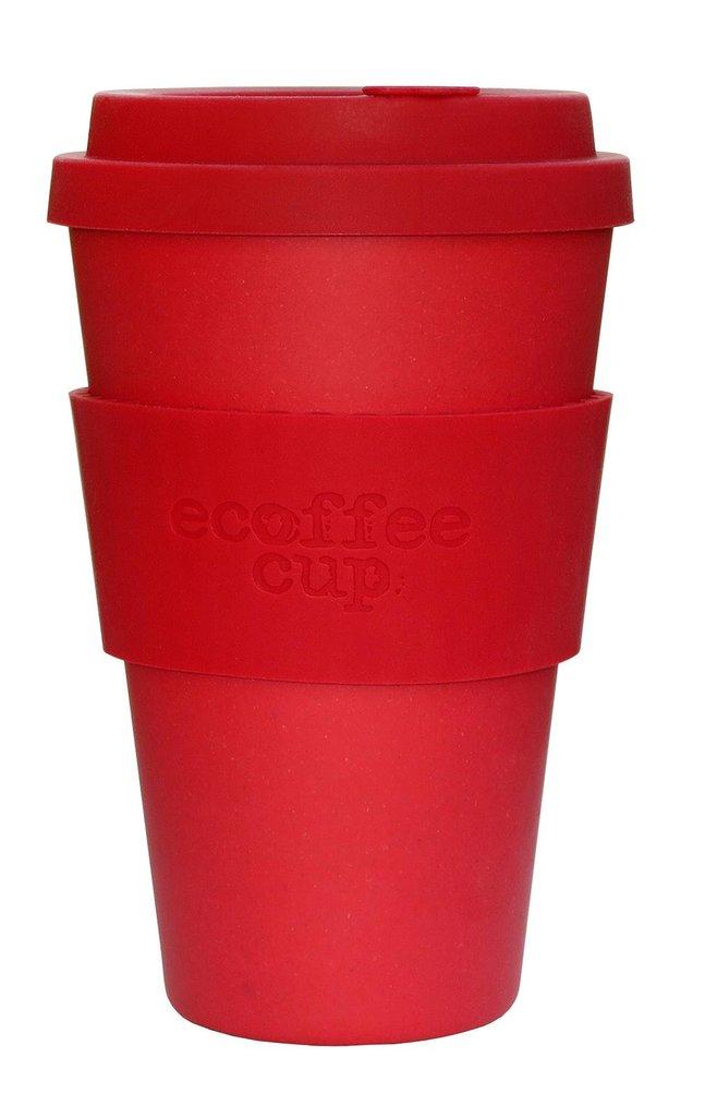 Ekologiškas bambuko puodeliai ECOFFEE CUP Red Dawn, 400 ml