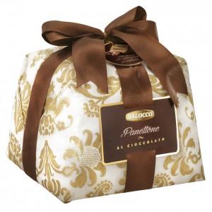 Kalėdinis Pyragas Balocco Panettone su šokolado įdaru ir šokolado glaistu, 800g