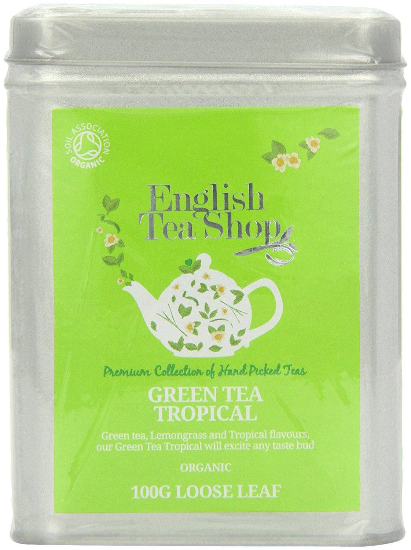 Ekologiška arbata ENGLISH TEA SHOP Green tea tropical fruits, 100g