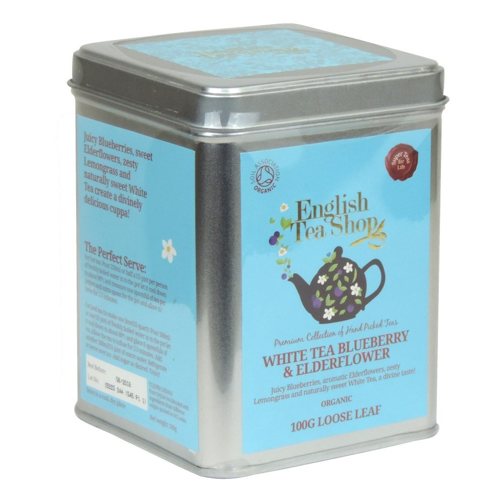 Ekologiška arbata ENGLISH TEA SHOP White tea blueberry and elderflower, 100g