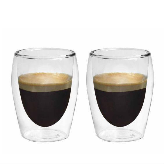Dvisienių stiklinių rinkinys BORAL karštiems gėrimams, 2 vnt. 175 ml