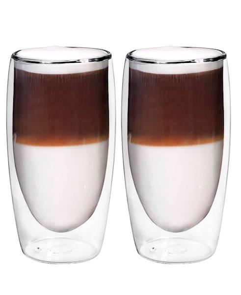 Dvisienių stiklinių rinkinys BORAL karštiems gėrimams, 2 vnt. 350 ml