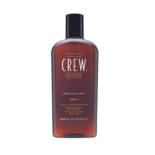 Šampūnas, kondicionierius ir dušo želė AMERICAN CREW 3 in 1, 450 ml