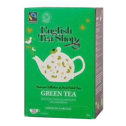Ekologiška arbata ENGLISH TEA SHOP Green tea, 20 maišelių