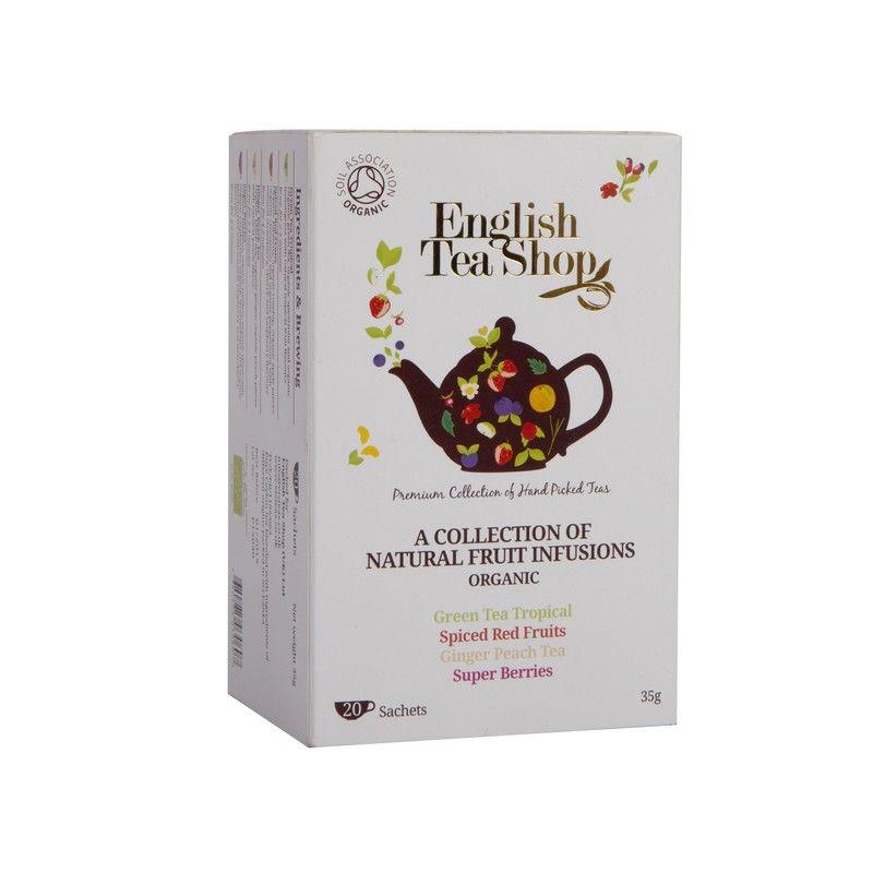 Ekologiška arbata ENGLISH TEA SHOP Assorted fruit teas, 20 maišelių