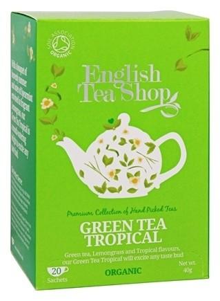 Ekologiška arbata ENGLISH TEA SHOP Green tea Tropical fruits, 20 maišelių