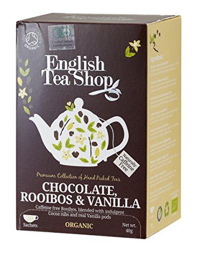 Ekologiška arbata ENGLISH TEA SHOP Rooibois chocolate vanilla, 20 maišelių